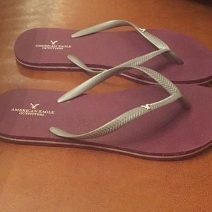 American Eagle Outfitters Shoes - American Eagle purple flip flops